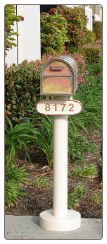 Basic Mailbox Pole Single