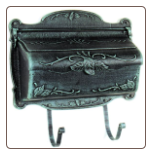 Floral Horizontal Wall Mount Mailbox
